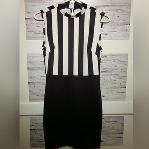 Small Black & White Striped Forever 21 Mini Dress